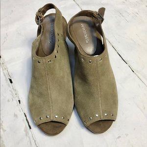 Aerosoles Haven Open Toe Slingback Shoes 7M